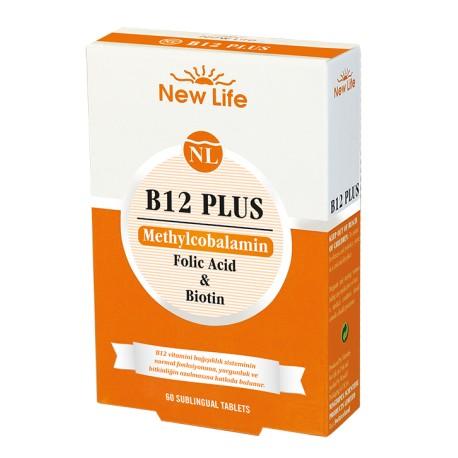 NewLife B 12 Plus  60 Dilaltı Tablet 3 lü Avantaj Paket