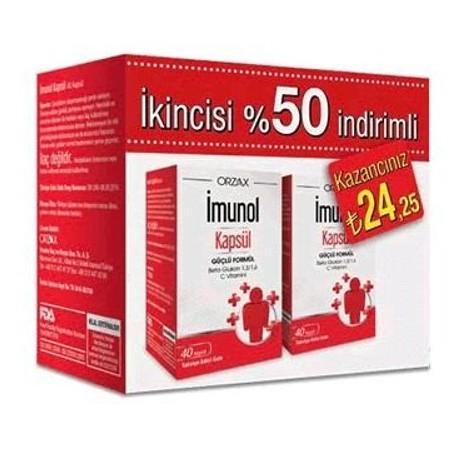 İmunol 40 Kapsül- 2.si %50 İndirimli